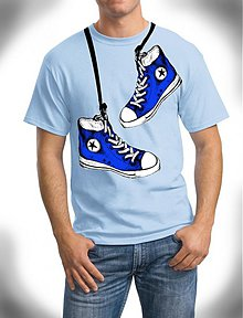 Tričká - s modrymi botami / vel. XXL / výpredaj!! - 3639036