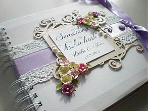 Papiernictvo - Svadobná kniha hostí - 3644045