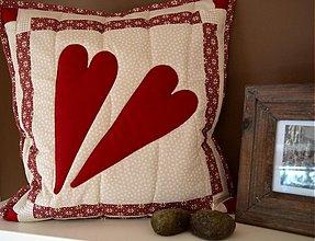 Úžitkový textil - patchwork obliečky srddiečka - - 3649578