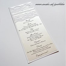 Papiernictvo - Svadobné menu LACIE - 3650443
