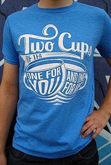 Oblečenie - Pánske tričko Two Cups - 3655807