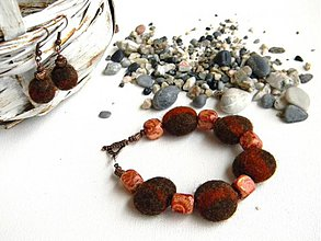 Náramky - Kamienky plstené - náramok - 3656030