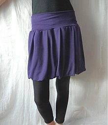 Tehotenské oblečenie - ***Fialová do balónku*** - 3656321