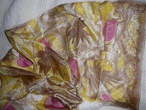 Šatky - Hodvábny šál jeseň - 365646