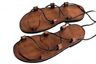 Obuv - Kožené sandále Kristusky Camel - 3663266