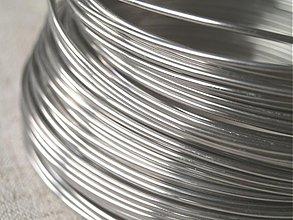 Suroviny - hliníkový drôt 2mm STRIEBORNÝ - 3664531