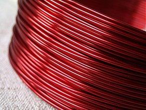 Suroviny - hliníkový drôt 2mm ČERVENÝ - 3664554