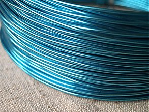 Suroviny - hliníkový drôt 2mm MODRÝ - 3664571