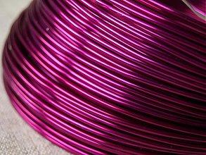 Suroviny - hliníkový drôt 2mm FUKSIA - 3664589