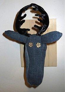 Dekorácie - pán jeleň - rifľáč - 3670671