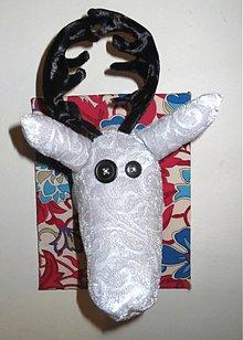 Dekorácie - pán jeleň-albín - 3670963