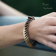 Náramky - Šupináč bronzový - náramok - 3671581