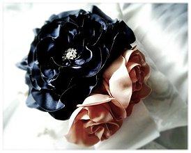 Prstene - Vankúšik -modrá ruža. - 3671828