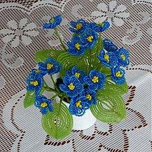 Dekorácie - Fialka modrá....korálková - 3674478