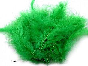 Suroviny - Pštrosie perie 20 ks (zelené) - 3674548
