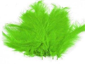 Suroviny - Pštrosie perie 20 ks (svetlo zelené) - 3674554