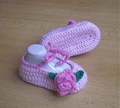 Topánočky - Ružové balerínky - 3677069