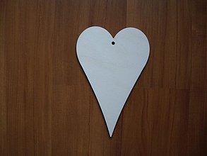 Materiál ručne robený - Drevené srdce 15x10 - 3677837