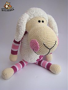 Návody a literatúra - Návod na háčkovanú ovečka (cca 38,5cm) - 3681739