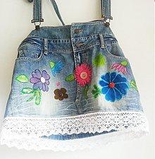 Sukne - Recy sukňa...kvety 2. - 3683870