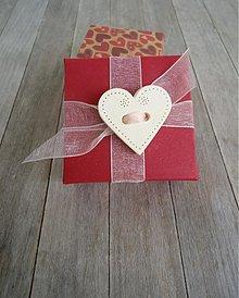 Dekorácie - Srdiečko na aranžovanie dvojdierkové - 3684155