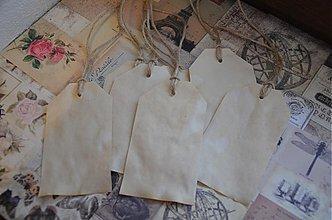 Papiernictvo - Visačky prírodné- sada 10 ks - 3684289