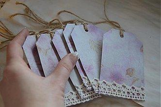 Papiernictvo - Vintage visačky 6 ks - 3684349