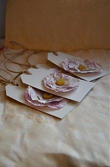 Papiernictvo - Visačky s kvetinkou 4 ks - 3684365