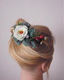 Ozdoby do vlasov - Spona Šípková Ruženka - 3688114