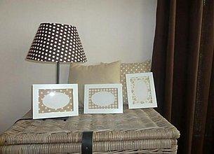 Dekorácie - Lampa,vankúše, fotorámiky - sada - 3688746