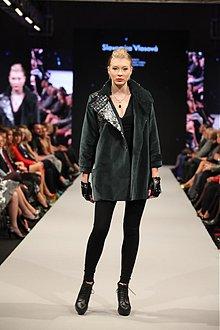 Kabáty - smaragd/zamatový kabátik - 3689396