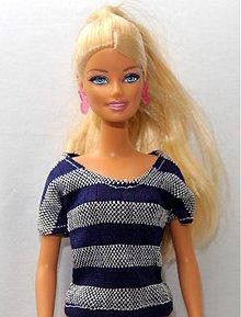 Hračky - Modro-strieborné tričko pre Barbie - 3690163 f4883da6685