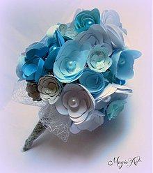 Kytice pre nevestu - Ruže s vôňou oceánu... - 3690712