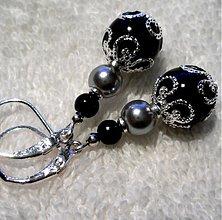 Náušnice - ZUZANA (čierna) - 3692059