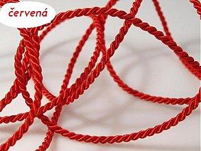Galantéria - Točená šnúra červená Ø 2,8 mm - 3694035