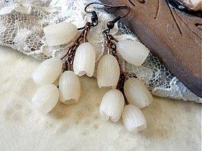 Náušnice - biele náušnice-zvončeky-prvé jarné - 3694621
