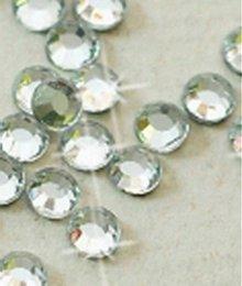 Galantéria - Hotfix kamienky: strieborné - crystal, SS20 144 ks - 3695092