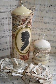 Svietidlá a sviečky - Pocta Beethovenovi - duo sviečok - 3696605