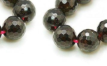 Minerály - NAT4269, NATUR Granát 8mm brúsený Tm.ČERVENÁ /1ks - 3698563