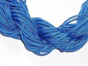 Galantéria - Nylonová šnúrka 1,0 mm kráľovská modrá - 3701159