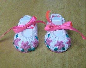 Topánočky - Kvetinkové balerínky - 3701429