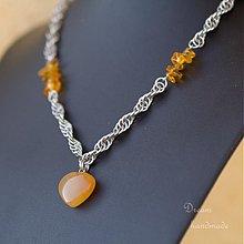 Náhrdelníky - Kalcitové srdce - náhrdelník - 3701783