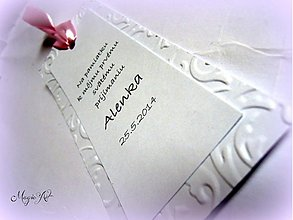 Papiernictvo - Záložka na prvé sväté prijímanie - 3702125