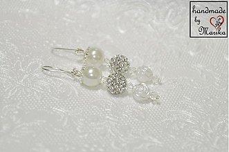 Náušnice - svadobné náušnice pre nevestu - 3705472