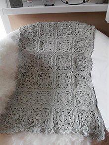Úžitkový textil - Háčkovaná deka - pléd - 3710130