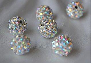 Korálky - shamballa korálky CZ kryštál AB, 10mm, 0.25€/ks - 3710851