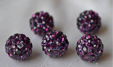 Korálky - shamballa korálky CZ kryštál ametyst, 10mm, 0.25€/ks - 3710968