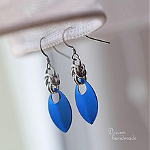 Náušnice - Náušnice Simply (Modré) - 3712710