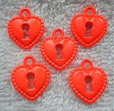 Komponenty - KPrív-srdce 14x15mm-oranž-1ks - 3713189