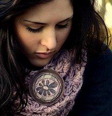Odznaky/Brošne - Látková brož kopretina - 3714980